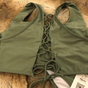 Cupshe Swim - Cupshe Matcha Moose Bikini Set